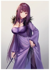 Rating: Questionable Score: 29 Tags: cleavage dress fate/grand_order kuromomo pantyhose scathach_skadi see_through User: yanis