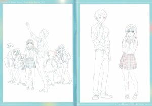 Rating: Safe Score: 6 Tags: crease fixme koe_no_katachi line_art raw_scan seifuku User: yswysc
