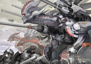 Rating: Safe Score: 12 Tags: armor gun mecha monster takayama_toshiaki User: Radioactive