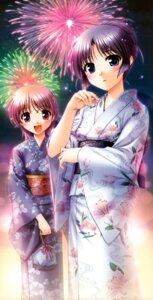 Rating: Safe Score: 18 Tags: bekkankou fixed fortune_arterial kuze_kiriha yukata yuuki_haruna User: fairyren
