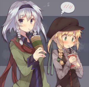 Rating: Safe Score: 32 Tags: dress_shirt izayoi_sakuya kirisame_marisa touhou usamata User: nphuongsun93