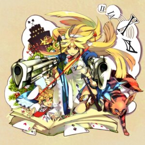 Rating: Questionable Score: 14 Tags: alice alice_in_wonderland cheshire_cat gun tenryou_sena torn_clothes white_rabbit User: charunetra