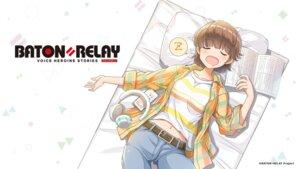 Rating: Safe Score: 7 Tags: baton=relay headphones tenjin_matsuri wakaki_tamiki wallpaper User: saemonnokami