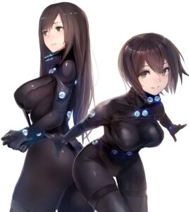 Rating: Questionable Score: 100 Tags: ass bodysuit gantz shimohira_reika taishi_(picchiridou) yamasaki_anzu User: mash