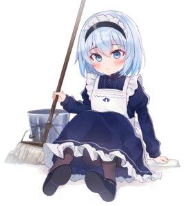 Rating: Safe Score: 19 Tags: gyouzanuko maid pantyhose ryuuou_no_oshigoto! skirt_lift sora_ginko User: Mr_GT