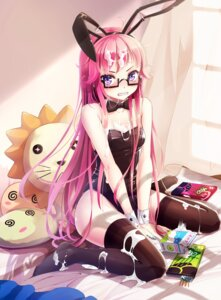 Rating: Questionable Score: 95 Tags: animal_ears bunny_ears bunny_girl cream kaku-san-sei_million_arthur megane thighhighs wait User: Zenex
