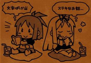 Rating: Safe Score: 7 Tags: cuffs garden gayarou himemiya_ruri hoshino_erika paper_texture User: Kalafina