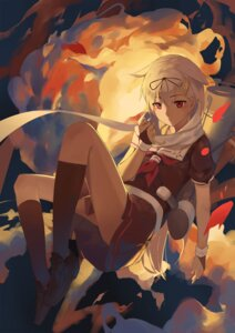 Rating: Safe Score: 41 Tags: huanxiang_heitu kantai_collection seifuku weapon yuudachi_(kancolle) User: sylver650