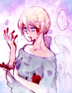 Rating: Safe Score: 6 Tags: alois_trancy blood kuroshitsuji male wings yaichino User: charunetra