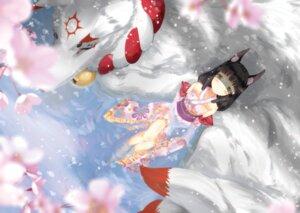 Rating: Safe Score: 24 Tags: animal_ears azur_lane kitsune lolita_fashion nagato_(azur_lane) see_through wa_lolita wakamoto_riwo wet wet_clothes User: Mr_GT
