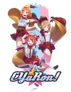 Rating: Safe Score: 9 Tags: kurosawa_ruby love_live!_sunshine!! regition skirt_lift takami_chika watanabe_you User: saemonnokami