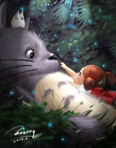 Rating: Safe Score: 25 Tags: kusakabe_mei monkey_buonarroti tonari_no_totoro totoro User: saskiadesiree
