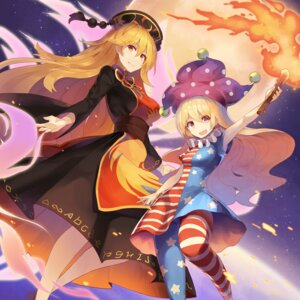 Rating: Safe Score: 19 Tags: clownpiece dress junko pantyhose rin_falcon touhou User: Nepcoheart