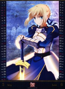 Rating: Safe Score: 23 Tags: armor calendar dress fate/stay_night fate/stay_night_unlimited_blade_works saber sword User: drop