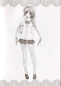 Rating: Safe Score: 35 Tags: carnelian mayuna monochrome seifuku sketch User: peoplo