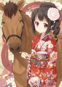 Rating: Safe Score: 33 Tags: hyuuga_azuri japanese_clothes kimono User: fairyren