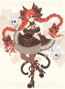 Rating: Safe Score: 41 Tags: animal_ears gothic_lolita kaenbyou_rin lolita_fashion nekomimi pantyhose tail touhou yutsumoe User: Nekotsúh