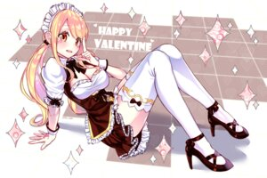 Rating: Safe Score: 46 Tags: cleavage fairy_tail heels lium lucy_heartfilia maid tattoo thighhighs valentine User: charunetra