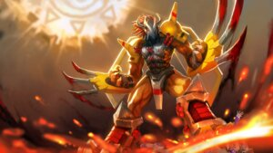 Rating: Questionable Score: 28 Tags: blood digimon hanshu wallpaper wargreymon User: Mr_GT