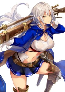 Rating: Questionable Score: 70 Tags: cleavage erect_nipples granblue_fantasy gun haik no_bra open_shirt see_through silva_(granblue_fantasy) sword User: mash
