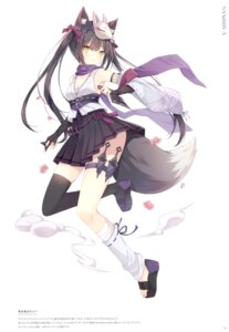 Rating: Safe Score: 30 Tags: animal_ears hoshi tail thighhighs weapon User: BattlequeenYume