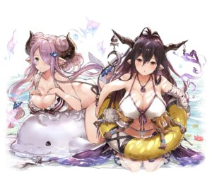 Rating: Questionable Score: 70 Tags: bikini breast_hold cleavage danua granblue_fantasy heels horns narumeia_(granblue_fantasy) pointy_ears swimsuits tokopi wet User: Mr_GT
