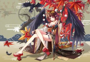 Rating: Safe Score: 38 Tags: japanese_clothes shameimaru_aya shinebell sword touhou wings User: Radioactive