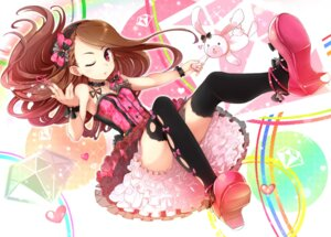 Rating: Safe Score: 55 Tags: dress minase_iori minazuki_randoseru the_idolm@ster thighhighs User: animeprincess
