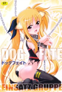 Rating: Questionable Score: 25 Tags: animal_ears bondage charlie_nishinaka einsatz_gruppe fate_testarossa inumimi loli mahou_shoujo_lyrical_nanoha tail torn_clothes User: Radioactive