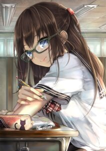 Rating: Safe Score: 96 Tags: megane pisuke seifuku User: blooregardo