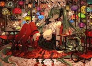 Rating: Safe Score: 52 Tags: hatsune_miku heels saberiii tattoo thighhighs vocaloid User: blooregardo