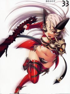 Rating: Questionable Score: 10 Tags: aldra eyepatch kantaka queen's_blade sword thighhighs User: admin2
