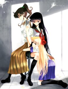 Rating: Safe Score: 9 Tags: aino_minako hino_rei kino_makoto nonrain sailor_moon seifuku User: charunetra