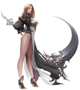 Rating: Safe Score: 63 Tags: ake_(cherrylich) armor cleavage heels leotard pointy_ears tagme weapon User: Radioactive
