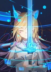 Rating: Safe Score: 15 Tags: animal_ears mecha_musume sakutaishi sword User: Arsy