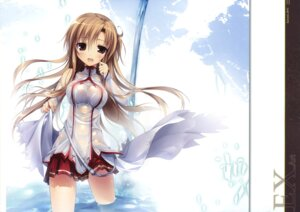 Rating: Questionable Score: 85 Tags: areola asuna_(sword_art_online) karomix karory no_bra see_through sword_art_online wet wet_clothes User: Twinsenzw