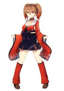 Rating: Safe Score: 17 Tags: akanko_pirika cleavage japanese_clothes onsen_musume plan_(planhaplalan) User: saemonnokami