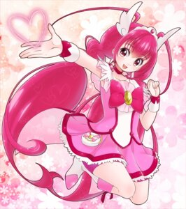 Rating: Safe Score: 8 Tags: bike_shorts dress hoshizora_miyuki pretty_cure smile_precure! yupiteru User: cosmic+T5