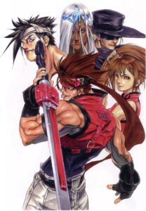Rating: Safe Score: 5 Tags: chinadress guilty_gear ishiwatari_daisuke johnny kuradoberi_jam megane mito_anji sol_badguy sword venom_(guilty_gear) User: Radioactive