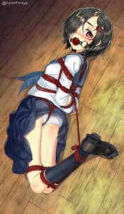 Rating: Questionable Score: 28 Tags: ass bondage loli pantsu ryou@ryou seifuku skirt_lift User: Mr_GT
