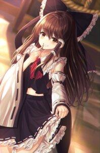 Rating: Safe Score: 21 Tags: hakurei_reimu kure:kuroha skirt_lift touhou User: leotard