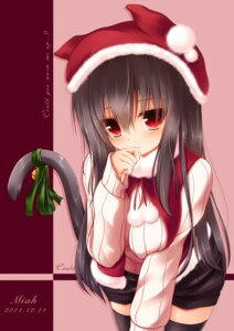 Rating: Safe Score: 75 Tags: animal_ears christmas mia_flatpaddy nekomimi syroh tail thighhighs User: SciFi