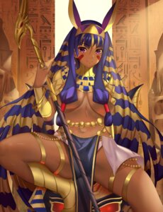 Rating: Safe Score: 35 Tags: animal_ears bunny_ears fate/grand_order garter magician_(china) nitocris_(fate/grand_order) no_bra pantsu weapon User: BattlequeenYume