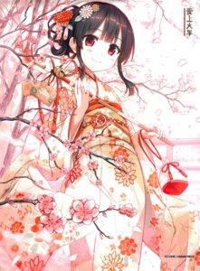 Rating: Safe Score: 36 Tags: cura hachiroku kimono lose maitetsu User: marechal