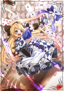 Rating: Questionable Score: 18 Tags: alice alice_in_wonderland dress heels pantyhose takatun23 weapon User: sym455