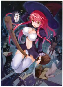 Rating: Questionable Score: 54 Tags: cleavage maeda_risou neko pantsu thighhighs witch User: donicila