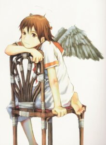 Rating: Safe Score: 7 Tags: abe_yoshitoshi binding_discoloration haibane_renmei rakka wings User: Radioactive