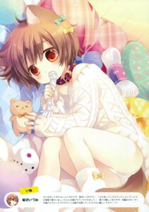 Rating: Questionable Score: 51 Tags: animal_ears inumimi pantsu sakurazawa_izumi sweater tail User: Twinsenzw