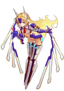 Rating: Questionable Score: 44 Tags: armor atorosu blazblue mu-12 no_bra thighhighs underboob wings User: Mr_GT