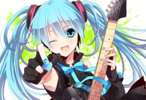 Rating: Safe Score: 32 Tags: guitar hatsune_miku vocaloid yunxko User: charunetra